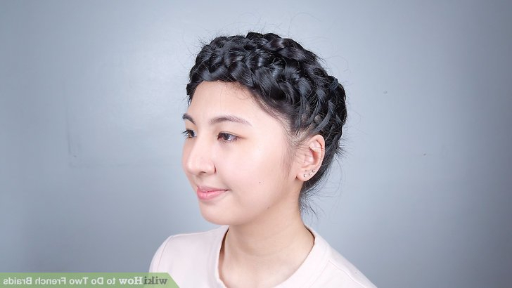 3 Ways To Do Two French Braids – Wikihow Inside Most Up To Date Angled Braided Hairstyles On Crimped Hair (View 17 of 25)