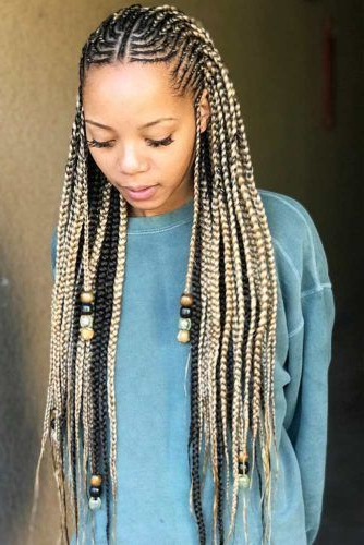 30 Attention Grabbing Fulani Braids Ideas To Copy In 2019 Regarding Most Recently Geometric Blonde Cornrows Braided Hairstyles (View 19 of 25)