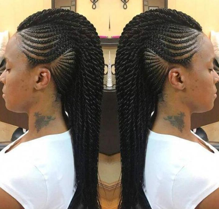 30 Beautiful Mohawk Braid Hairstyles For Women Regarding Recent Mohawk Braid Hairstyles With Extensions (View 15 of 25)