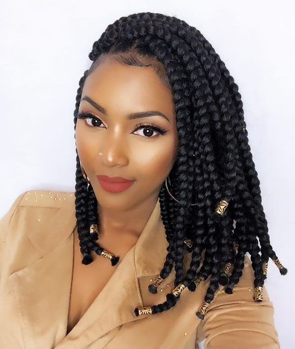 30 Best Braided Hairstyles For Women – The Trend Spotter Intended For Most Recent Side Swept Yarn Twists Hairstyles (View 19 of 25)