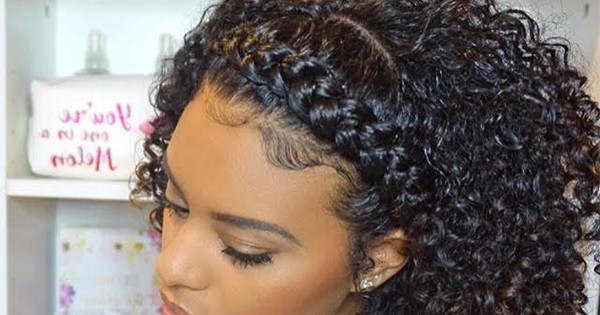 Featured Photo of Naturally Curly Braided Hairstyles