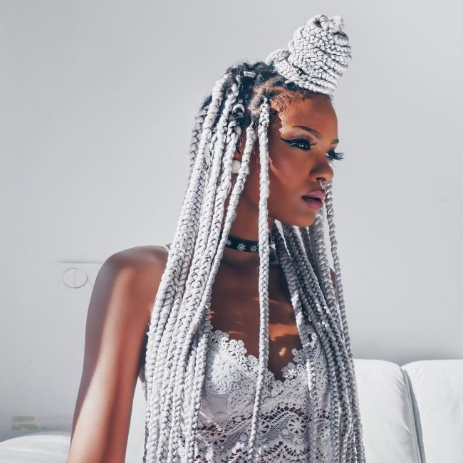 30 Cool Yarn Braids Styles — Protection And Perfection In Newest Blue Twisted Yarn Braid Hairstyles For Layered Twists (View 22 of 25)