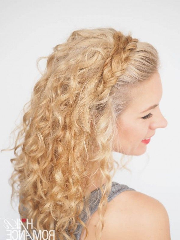 Featured Photo of Braided Headband Hairstyles For Curly Hair