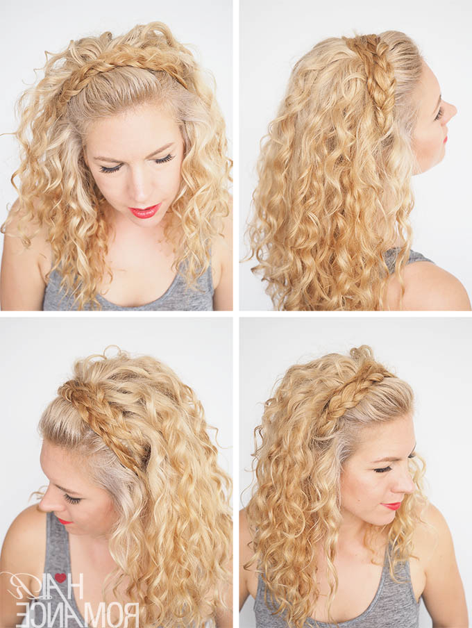 30 Curly Hairstyles In 30 Days – Day 27 – Hair Romance In Most Recently Braided Headband Hairstyles For Curly Hair (View 3 of 25)