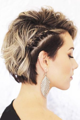 30 Cute Braided Hairstyles For Short Hair | Lovehairstyles With Regard To Latest Bob Braid Hairstyles With A Bun (View 15 of 25)