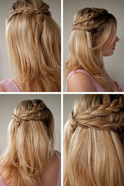 30 Days Of Twist & Pin Hairstyles – Day 20 | Hairstyles For For 2018 Pretty Pinned Back Half Updo Braids (View 24 of 25)
