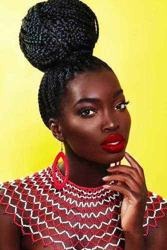 30 Fabulous Ideas To Rock Micro Braids And Look Different In Recent High Half Up Bun Invisible Braids (View 22 of 25)