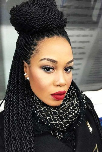 30 Fabulous Ideas To Rock Micro Braids And Look Different With Recent Micro Twist Ponytail Hairstyles (View 12 of 25)