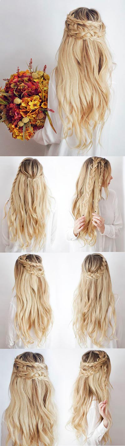 30 Most Flattering Half Up Hairstyle Tutorials To Rock Any Event Regarding Most Recently Half Up Half Down Boho Braided Hairstyles (View 21 of 25)
