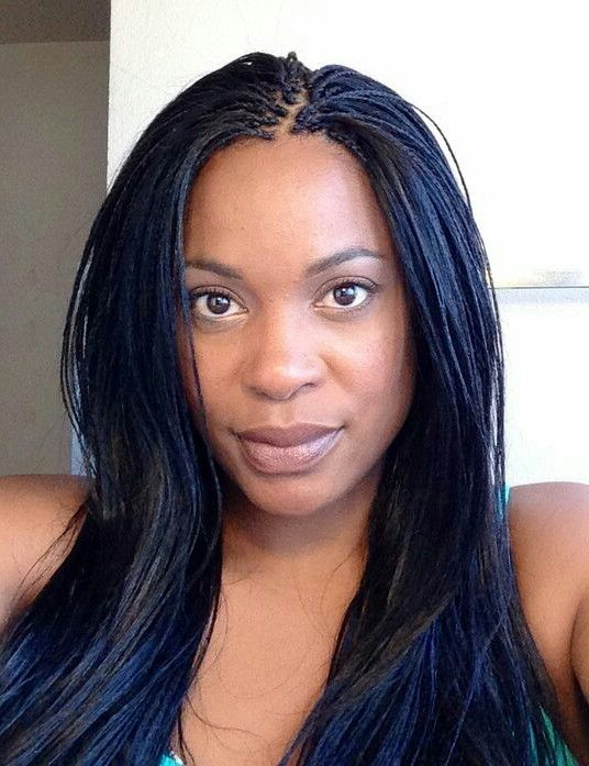 30 Protective Tree Braids Hairstyles For Natural Hair For Recent Tree Micro Braids With Side Undercut (View 13 of 25)