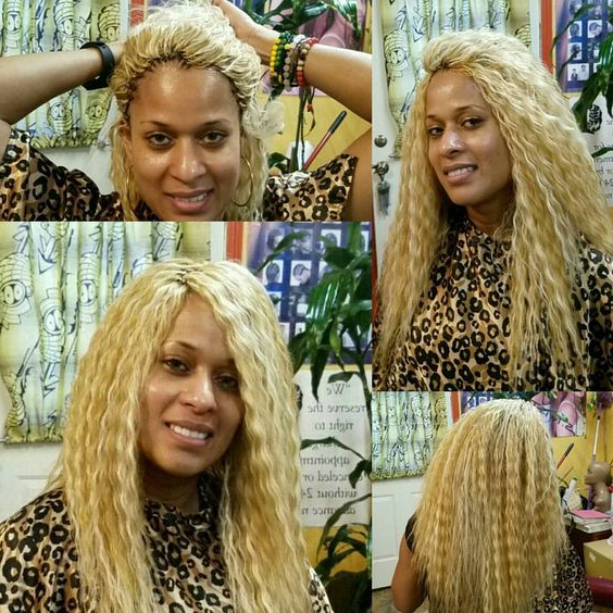 30 Protective Tree Braids Hairstyles For Natural Hair Inside Most Recent Straight Blonde Tree Micro Braid Hairstyles (View 12 of 25)