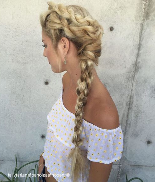 30 Rope Braid Hairstyles Looking Both Casual And Fancy Within Most Recently Rope And Fishtail Braid Hairstyles (View 15 of 25)