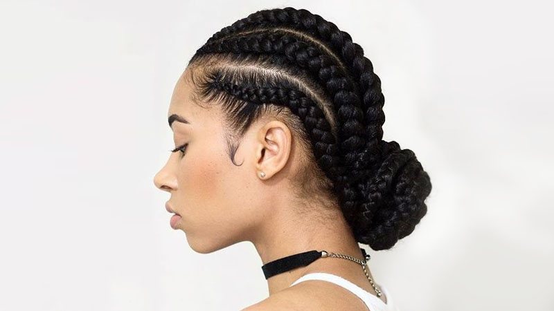 30 Sexy Goddess Braids Hairstyles You Will Love – The Trend With Regard To 2018 Thick Cornrows Bun Hairstyles (View 7 of 25)