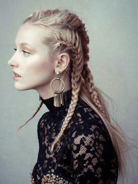 30 Sexy Goddess Braids Hairstyles You Will Love – The Trend With Regard To Most Popular Elegant Blonde Mermaid Braid Hairstyles (View 10 of 25)