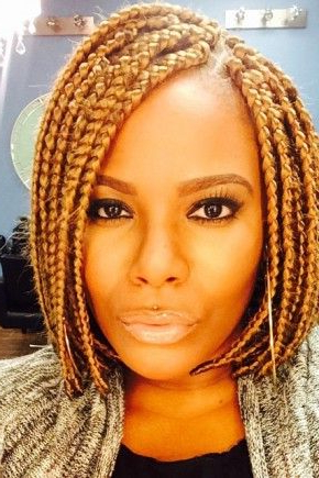 30 Short Box Braids Hairstyles For Chic Protective Looks Regarding Latest Short And Chic Bob Braid Hairstyles (View 21 of 25)