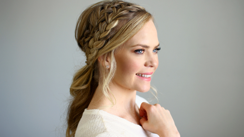 30 Stunning Prom Hairstyles For 2019 – The Trend Spotter For Recent Double Headband Braided Hairstyles With Flowers (View 6 of 25)