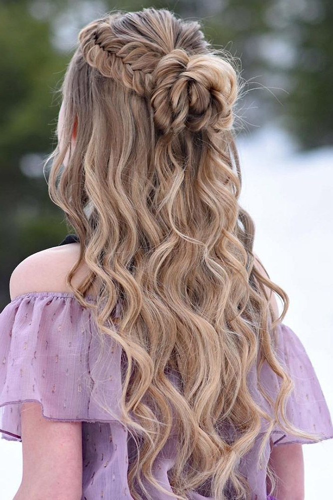 30 Wedding Hairstyles Half Up Half Down With Curls And Braid With Regard To Most Recently Double Half Up Mermaid Braid Hairstyles (View 19 of 25)