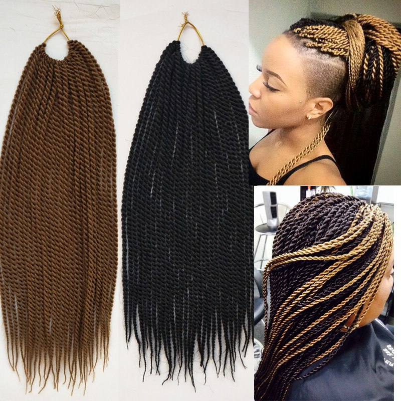 30Roots/pack 18Inches 75G Twist Hair Black Brown Braid Hair Throughout Best And Newest Black And Brown Senegalese Twist Hairstyles (View 17 of 25)