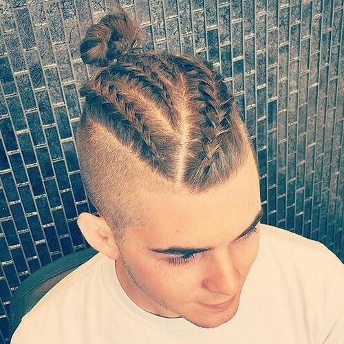 31 Best Man Bun Braids Hairstyles (2019 Guide) For Newest Topknot Ponytail Braided Hairstyles (View 6 of 25)