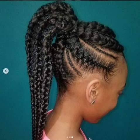31 Box Braids For Kids 2019, Perfect Styles With Detailed For Latest Box Braid Bead Ponytail Hairstyles (View 18 of 25)