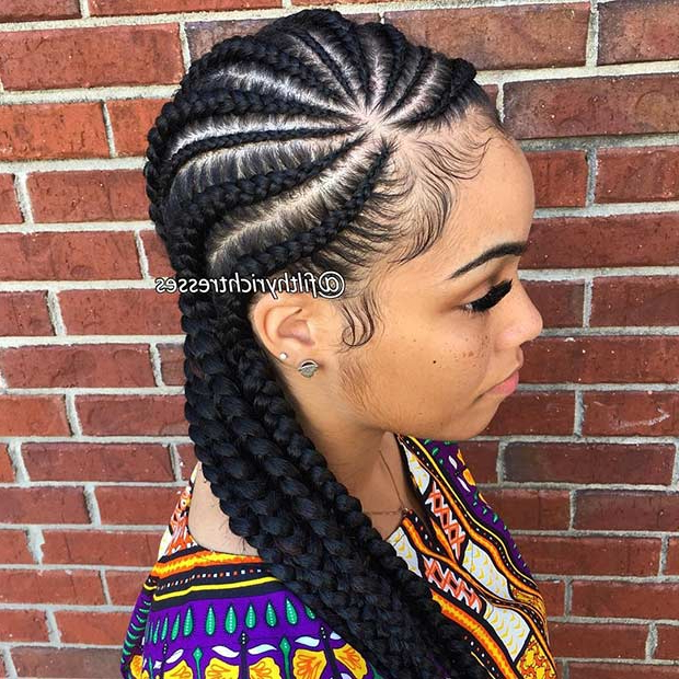 31 Cornrow Styles To Copy For Summer | Stayglam Inside Most Up To Date Angled Cornrows Hairstyles With Braided Parts (View 5 of 25)