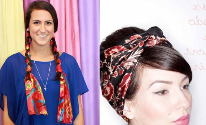 31 Cute Hairstyles You Can Do With A Scarf – The Goddess Within Current Forward Braided Hairstyles With Hair Wrap (View 14 of 25)