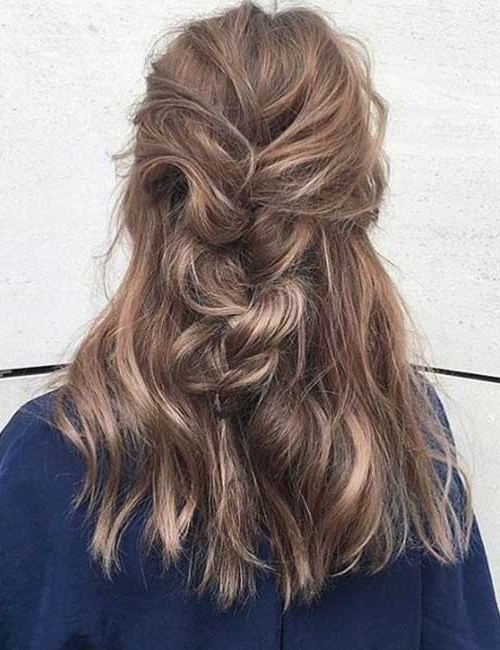 31 Incredible Half Up Half Down Prom Hairstyles Intended For Most Popular Pretty Pinned Back Half Updo Braids (View 18 of 25)