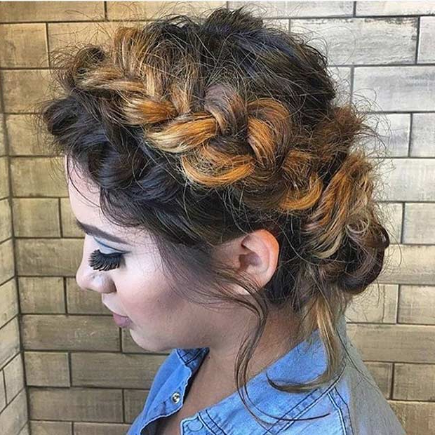 31 Most Beautiful Updos For Prom | Page 3 Of 3 | Stayglam In Most Recently Messy Crown Braid Updo Hairstyles (View 14 of 25)
