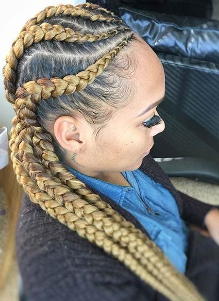31 Stylish Ways To Rock Cornrows   Stayglam Hairstyles Inside 2018 Blonde Asymmetrical Pigtails Braid Hairstyles (View 2 of 25)