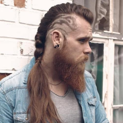 33 Selected Viking Hairstyles For Men 2018: Long, Medium For Most Recent Undershave Micro Braid Hairstyles (View 13 of 25)