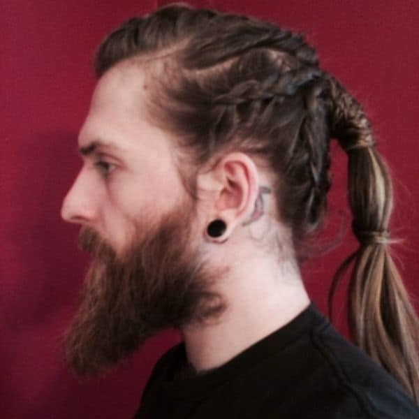 33 Selected Viking Hairstyles For Men 2018: Long, Medium For Recent Forward Braided Hairstyles With Hair Wrap (View 20 of 25)