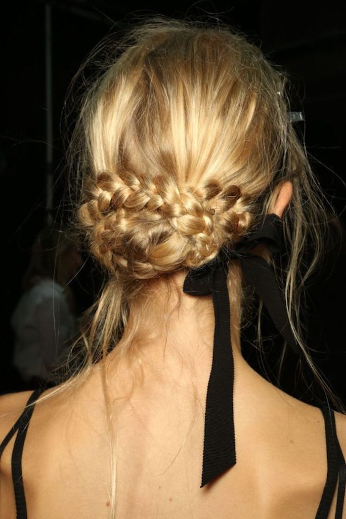 34 Beautiful Braided Wedding Hairstyles For The Modern Bride With Regard To Best And Newest Brown Woven Updo Braid Hairstyles (View 21 of 25)