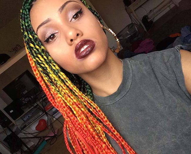 35 Awesome Box Braids Hairstyles You Simply Must Try For Most Up To Date Multicolored Bob Braid Hairstyles (View 15 of 25)