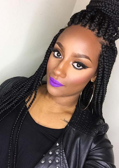 35 Awesome Box Braids Hairstyles You Simply Must Try In 2018 Jumbo Twists Yarn Braid Hairstyles (View 25 of 25)