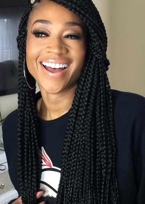 35 Awesome Box Braids Hairstyles You Simply Must Try Within 2018 Half Up Box Bob Braid Hairstyles (View 21 of 25)