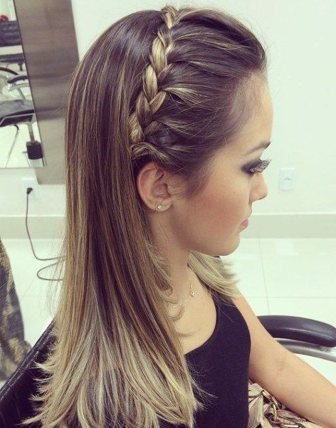 35 Fetching Hairstyles For Straight Hair To Sport This For Most Up To Date Braid Hairstyles With Headband (View 4 of 25)