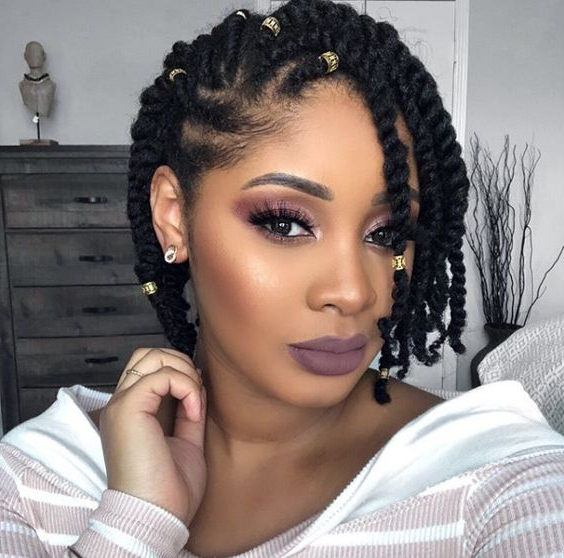 35 Natural Braided Hairstyles Without Weave With Regard To Most Current No Pin Halo Braided Hairstyles (View 15 of 25)