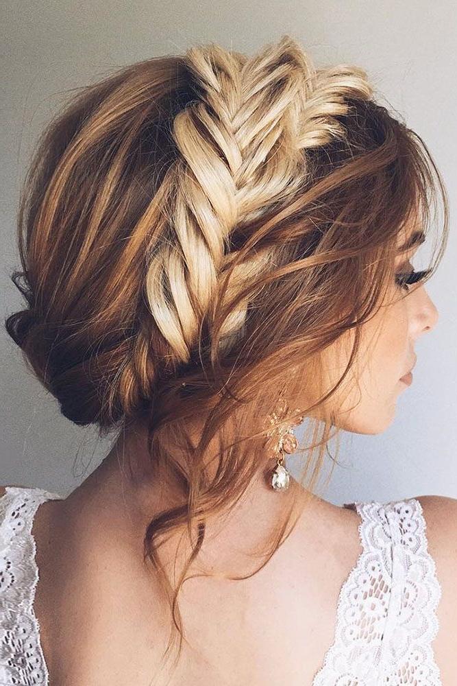 36 Trendy Swept Back Wedding Hairstyles | Mermaid Hair Regarding Recent Mermaid Crown Braid Hairstyles (View 4 of 25)