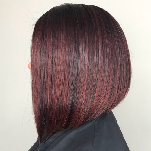 37 Best Red Highlights In 2019 For Brown, Blonde & Black Hair Within Current Black Twists Hairstyles With Red And Yellow Peekaboos (View 14 of 25)