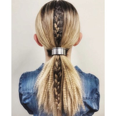 37 Cool Ponytail Hairstyles To Try In 2019 | Glamour Intended For Newest Wrapped Ponytail Braid Hairstyles (View 11 of 25)
