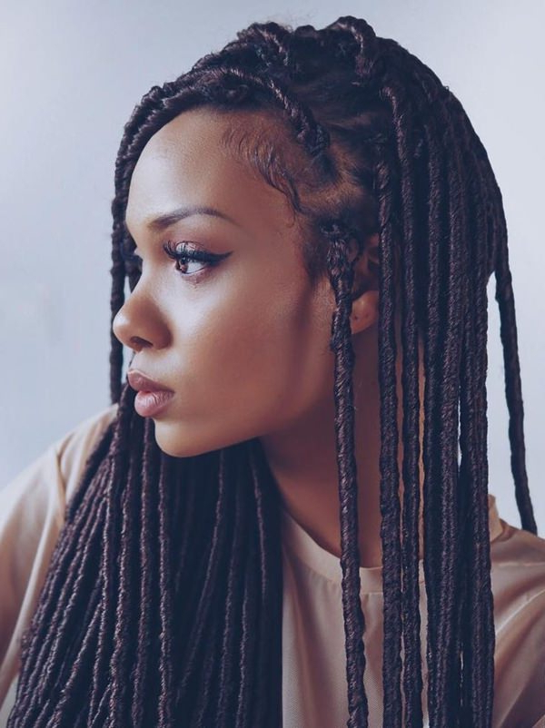 38 Ingenious Faux Locs Hairstyle That Will Make Heads Turn With Regard To Most Up To Date Blonde Faux Locs Hairstyles With Braided Crown (View 10 of 25)