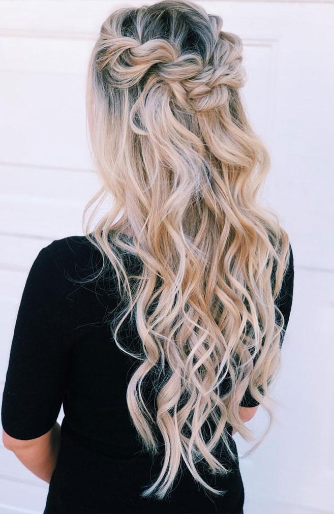 39 Gorgeous Half Up Half Down Hairstyles , Braid Half Up In Latest Half Up Half Down Boho Braided Hairstyles (View 18 of 25)