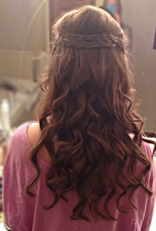 39 Half Up Half Down Hairstyles To Make You Look Perfect Intended For Most Recently Pretty Pinned Back Half Updo Braids (View 21 of 25)