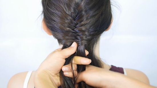 4 Ways To Make A Fishtail Braid - Wikihow with regard to Most Recent Flawless Mermaid Tail Braid Hairstyles