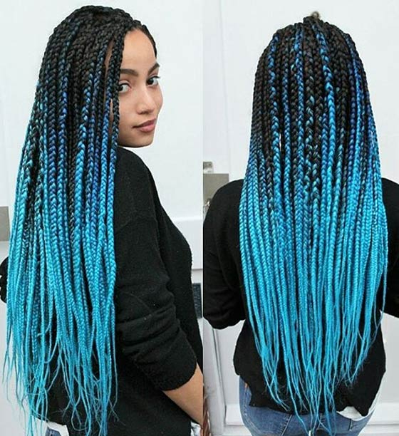 40 Awe Inspiring Ways To Style Your Crochet Braids Intended For Latest Multicolored Extension Braid Hairstyles (View 15 of 25)