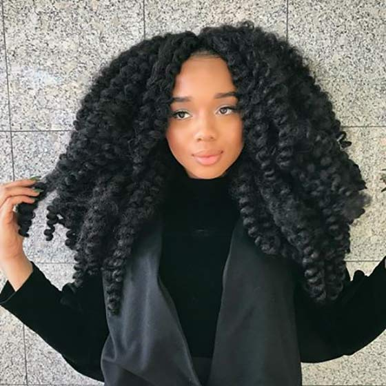 40 Awe Inspiring Ways To Style Your Crochet Braids With Current Micro Braids Into Ringlets (View 16 of 25)