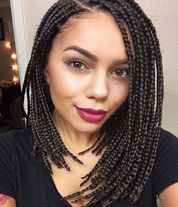 40 Braided Bob Hairstyle Ideas (Trending In September 2019) for Most Recent Long Bob Braid Hairstyles With Thick Braids