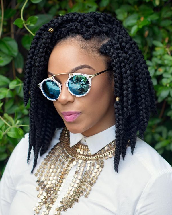 40 Braided Bob Hairstyle Ideas (Trending In September 2019) Inside Best And Newest Long Bob Braid Hairstyles With Thick Braids (View 22 of 25)