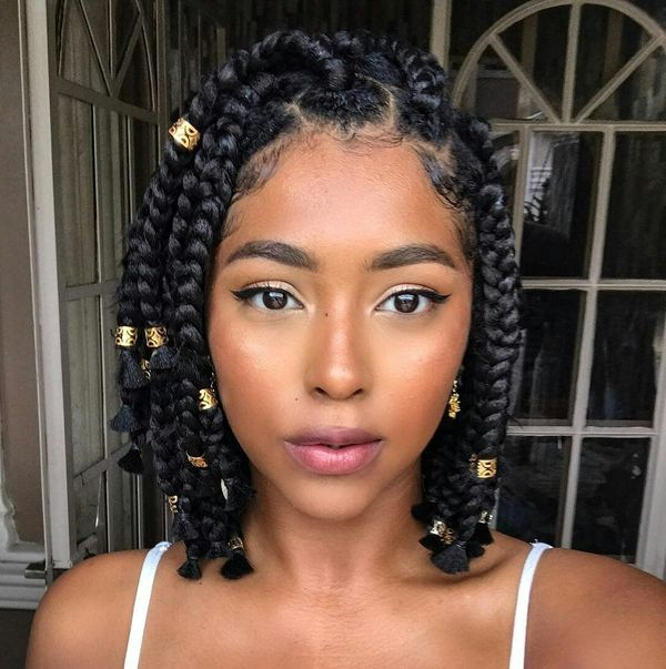 40 Braided Bob Hairstyle Ideas (Trending In September 2019) Regarding Best And Newest Asymmetrical Bob Braid Hairstyles (View 5 of 25)