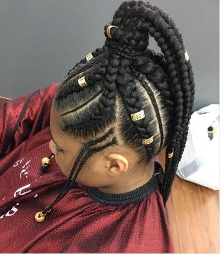 40 Braids For Black Kids 2018 – Mr Kids Haircuts In Current Ponytail Braid Hairstyles With Thin And Thick Cornrows (View 22 of 25)